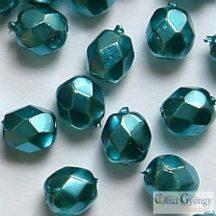 Pearl Turquoise - 40 db - 4 m csiszolt gyöngy (70067CR)