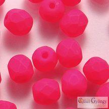 Neon Pink - 40 db - 4 mm csiszolt gyöngy (25123AL)