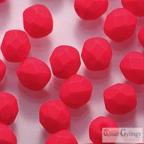 Neon Red - 40 pc. - 4 mm fire-polished beads (25144AL)