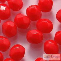 Opaque Red - 40 db - 4 mm csiszolt gyöngy (93200)