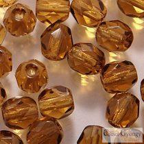 Smoky Topaz - 40 pc. - 4 mm Fire-polishe Beads (10230)