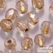 Copper Lined Crystal AB - 40 db - 4 mm csiszolt gyöngy (XCL00030)