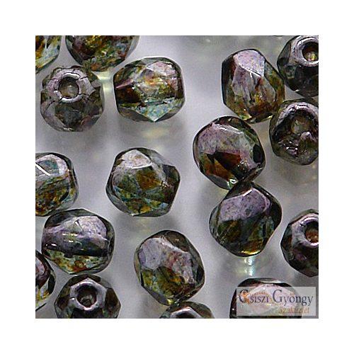 Luster Transp. Green - 40 db - 4 mm csiszolt gyöngy (LN00030)