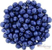 C.T. Sat. Met. Lapis Blue - 40 Stück - 4 mm Fire-polished Beads (77065CR)