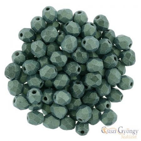 Metallic Suede Lt. Green - 40 pcs. - 4 mm Fire-Polished Beads (79051MJT)