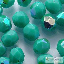 Opaque Turquoise AB - 40 db - 4 mm csiszolt gyöngy (X63130)