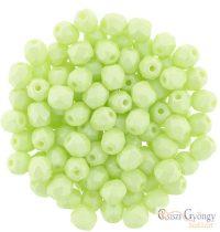 Powdery Pastel Lime - 40 db - 4 mm cseh, csiszolt gyöngy (29315Al)