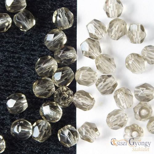 Black Diamond - 40 db - 4 mm csiszolt gyöngy (40020)