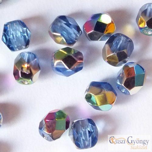 Sapphire Vitrail - 40 pcs. - 4 mm Fire-Polished Beads (V30030)