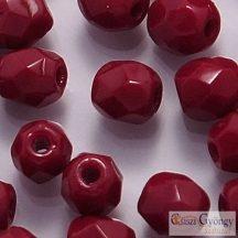Opaque Oxblood - 40 db - 4 mm csiszolt gyöngy (93310)