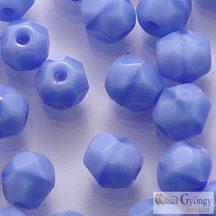 Opaque Sapphire - 40 db - 4 mm csiszolt gyöngy (34010)