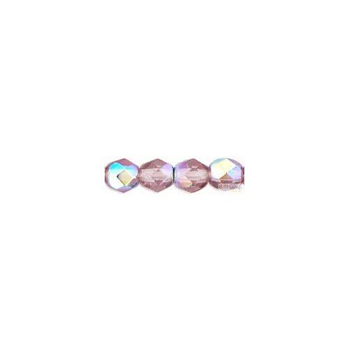 Light Amethyst AB - 40 db - 4 mm csiszolt gyöngy (X20020)