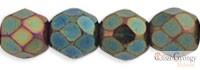 Matte Iris Green - 40 db - 4 mm csiszolt gyöngy (21155JT)