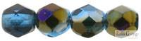 Purple Iris Capri Blue - 40 db - 4 mm csiszolt gyöngy (PR60080)