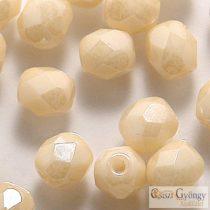 Luster Opaque Beige - 20 db - 6 mm csiszolt gyöngy (LC02010)