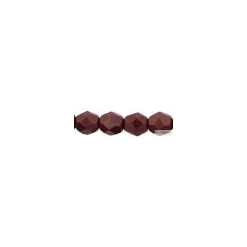 Opaque Cocoa Brown - 20 db - 6 mm csiszolt gyöngy (13510)