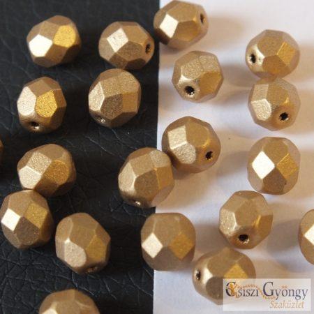 Matte Metallic Flax - 20 db - 6 mm csiszolt gyöngy (K0171JT)
