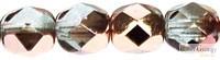 Copper Light Sapphire - 20 db - 6 mm csiszolt gyöngy (C30010)