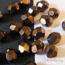Bronze - 20 pc. - 6 mm Fire-polished beads (LM23980)