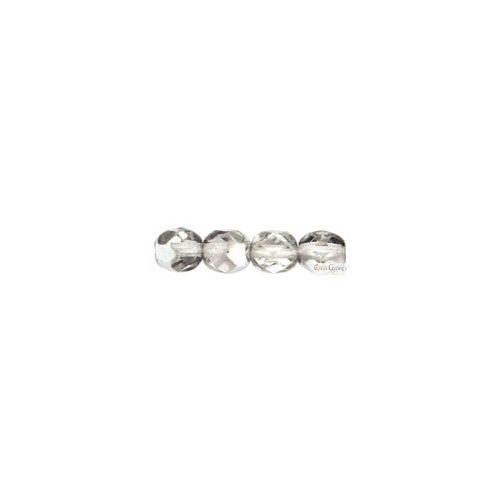 Silver 1/2 Crystal - 20 db - 6 mm csiszolt gyöngy (S00030)