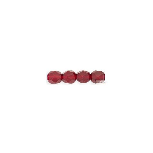 Ruby - 20 db - 6 mm csiszolt gyöngy (90100)