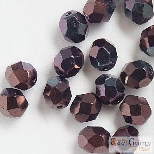 Luster Metallic Amethyst - 20 db - csiszolt gyöngy 6 mm (LE23980)