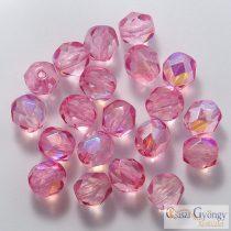 Crystal Violet AB - 20 db - 6 mm csiszolt gyöngy (45120CR)