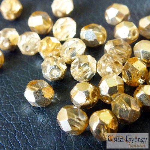 Crystal Gold Topaz - 20 db - 6 mm csiszolt gyöngy (97387CR)