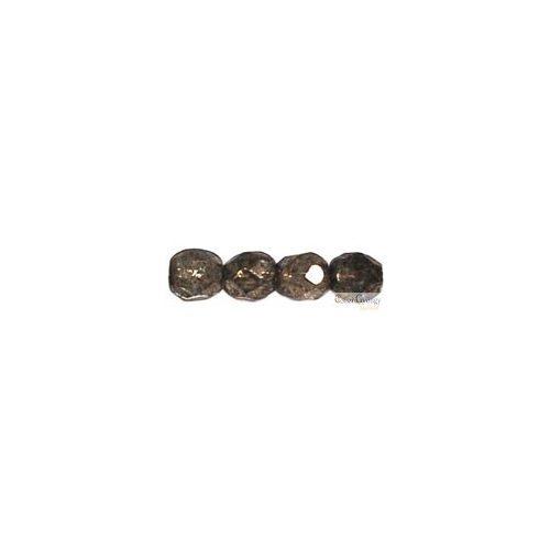 Coated Metallic Antique Platium - 20 db - csiszolt gyöngy 6 mm (18549CR)