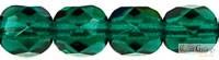 Dark Emerald - 20 db - 6 mm csiszolt gyöngy (50740)
