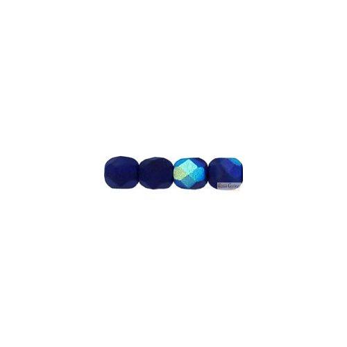 Matte Cobalt AB - 20 db - 6 mm csiszolt gyöngy (MX30090)