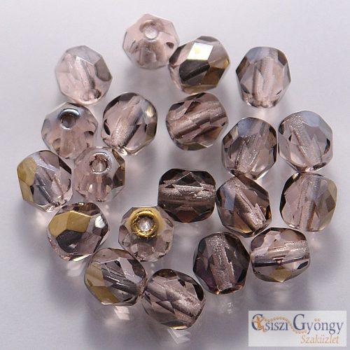 Bronze Iris Rosaline - 20 db - csiszolt gyöngy 6 mm (ZR70110)
