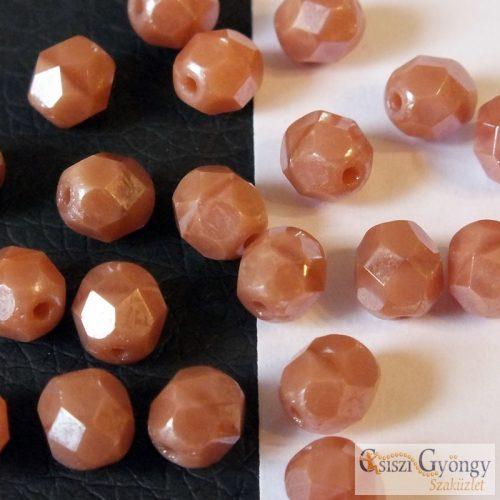 Luster Pink Coral - 20 db - csiszolt gyöngy 6 mm (L074020)