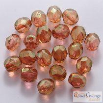 Luster Pink - 20 db - 6 mm csiszolt gyöngy (LK00030)