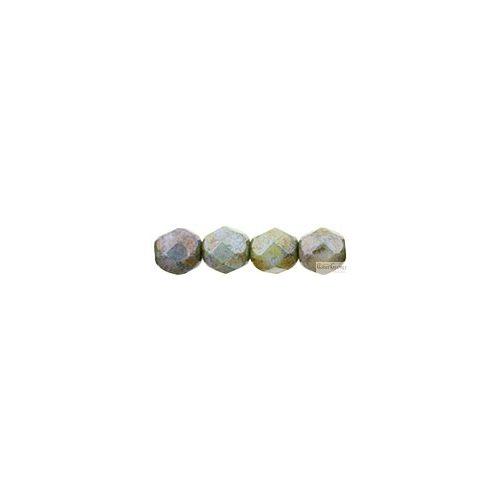 Luster Opaque Green - 20 db - 6 mm csiszolt gyöngy (LN02010)
