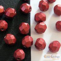 C.T. Sat. Metallic Cherry Tomato - 20 pcs. - 6 mm Fire-Polished Beads (05A08)