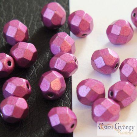 C.T. Sat. Metallic Pink Yarrow - 20 db - 6 mm csiszolt gyöngy (77062CR)