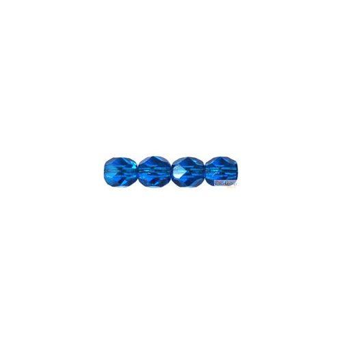 Capri Blue - 20 db - csiszolt gyöngy 6 mm (60080)