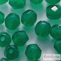 Alabaster Malachite Green - 20 db - 6 mm csiszolt gyöngy (52060)