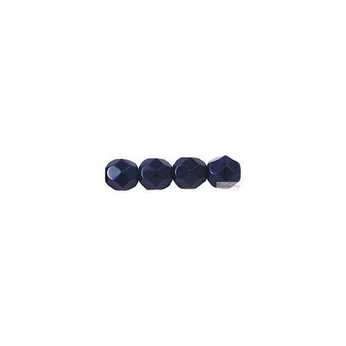 Opaque Navy Blue - 20 db - 6 mm csiszolt gyöngy (33070)