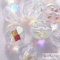 Crystal AB - 10 pcs - 8 mm Fire-polished Beads (SL00030)