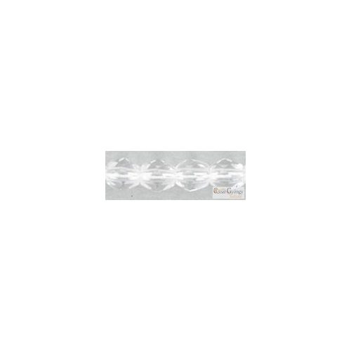 Crystal - 10 db - 8 mm csiszolt gyöngy (00030)