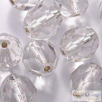 Silver Lined Crystal - 10 db - 8 mm csiszolt gyöngy (SL00030)