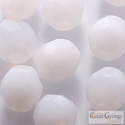Telt fehér - 10 db - 8 mm csiszolt gyöngy