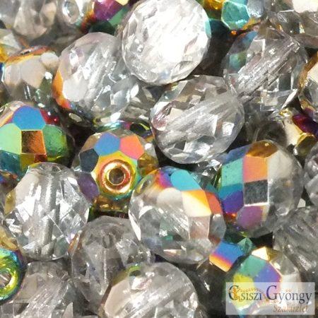 Crystal Vitrail - 10 db - 8 mm csiszolt gyöngy
