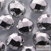 Ezüst színű - 10 db - 8 mm csiszolt gyöngy