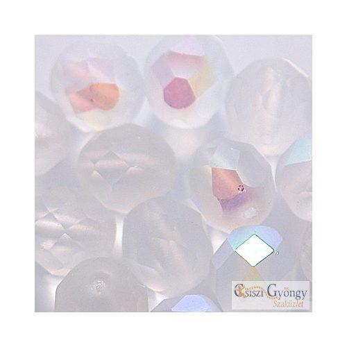 Matt kristály AB - 10 db - 8 mm csiszolt gyöngy