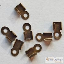 Cord End, antique bronze color, size: 3x6mm - 20 pc.