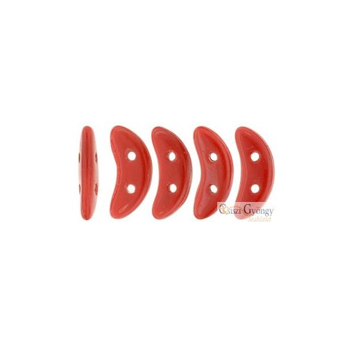 Opaque Red - 20 db - Crescent gyöngy 3x10mm (93200)