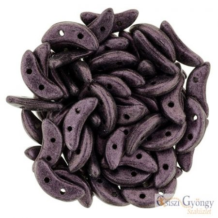 Metallic Suede Pink - 20 pc. - Crescent beads (79086MJT)